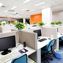 open plan office cleaning